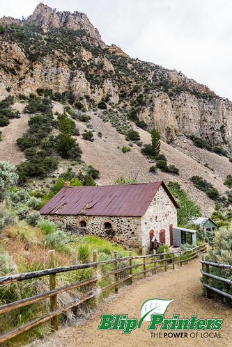 mountains buildings exterior unitedstates mining idaho ghosttown bayhorse