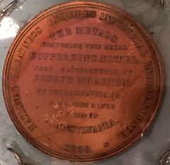 Joseph Wharton medal reverse
