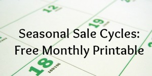 Seasonal Sale Cycles