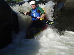 Crispin running the slot waterfall again Image