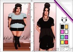 ~ϻ:Misty Maternity Blouse and Skirt 8 Colors HUD