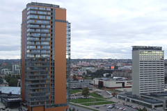 View over Vilnius with high-rises in front, 28.09.2013.