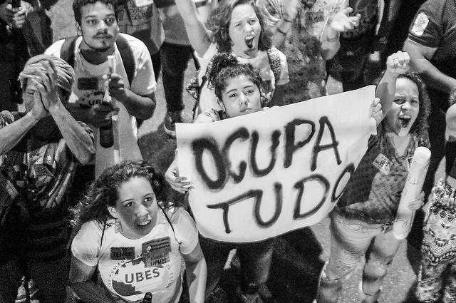 Protesta contra la PEC 55, en Rio de Janeiro, el viernes pasado (25)  - Créditos:  Mídia Ninja
