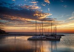 Sail Boats on Lake Hefner