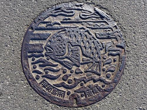 Uwajima Ehime, manhole cover 6 (愛媛県宇和島市のマンホール6)
