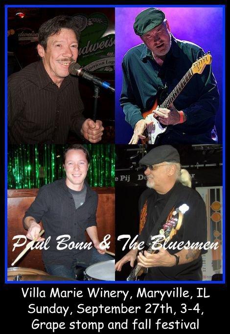 Paul Bonn & The Bluesmen 9-27-15