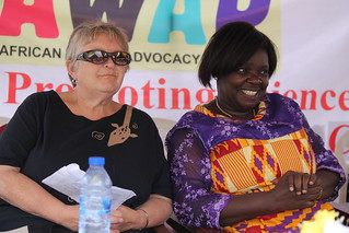 Board member Sheri Moore & Chairperson Prof. Esi Awuah