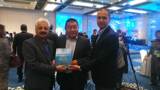 Water Book being presented to His Excellency Yeshey Dorji, Minister of Agriculture & Forests Kindom of Bhutan, at Bangkok.JPG