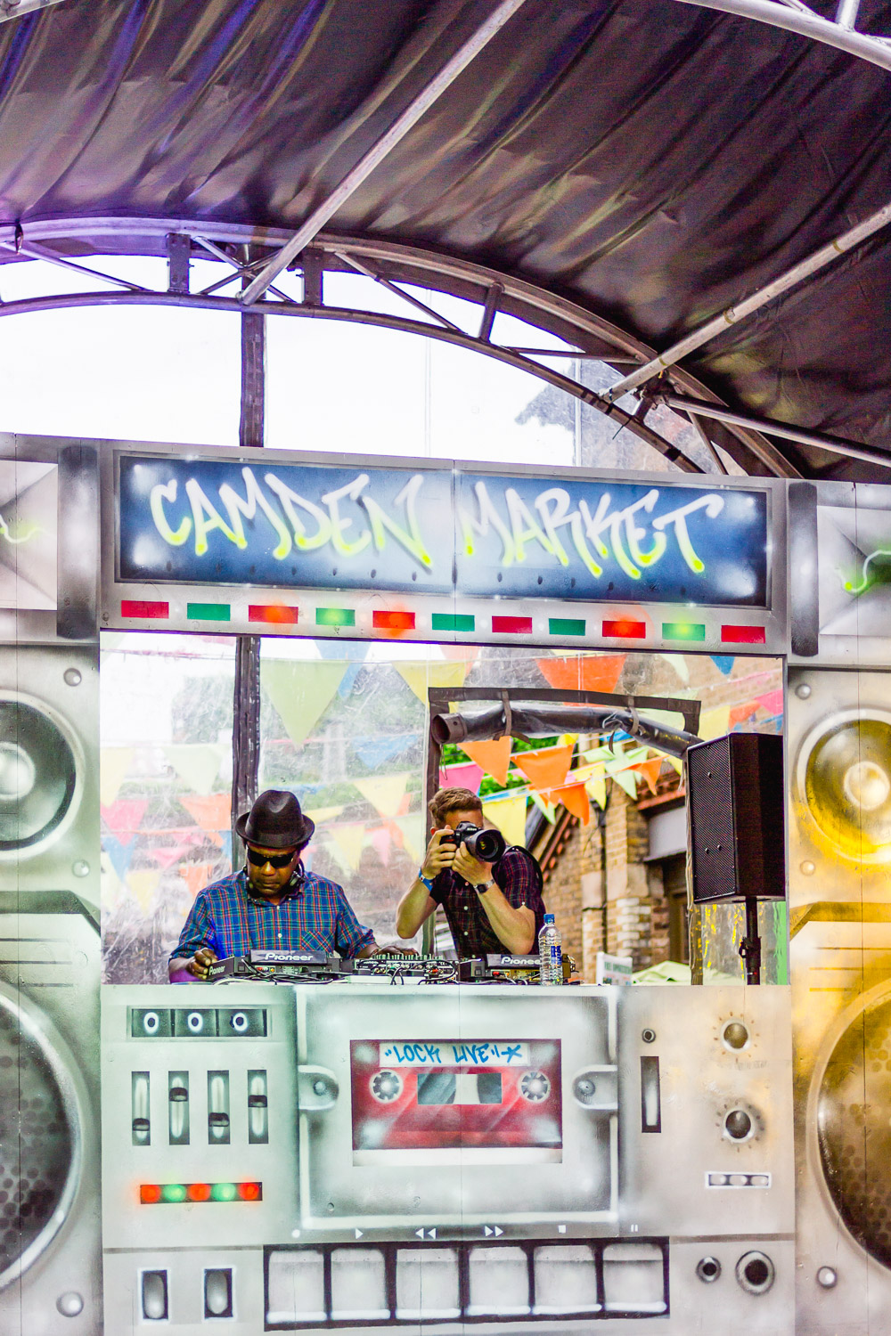 Camden Lock Live 2015 north yard stage DJ grafitti