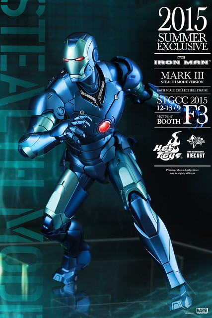 Hot Toys – 2015 STGCC 限定【合金馬克3 匿蹤版】1/6 比例 Iron Man Mark III Stealth Mode Version