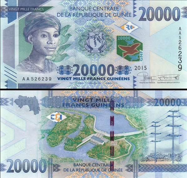 20 000 Frankov Guinea 2015