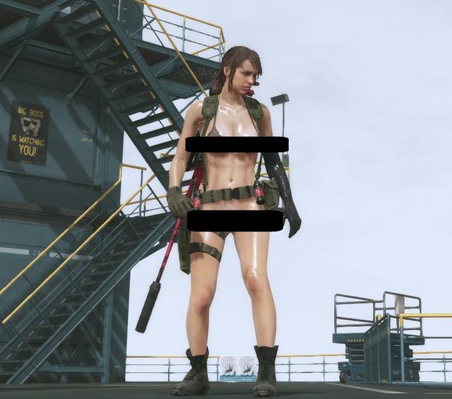 Metal Gear Solid 5 - Quiet desnuda