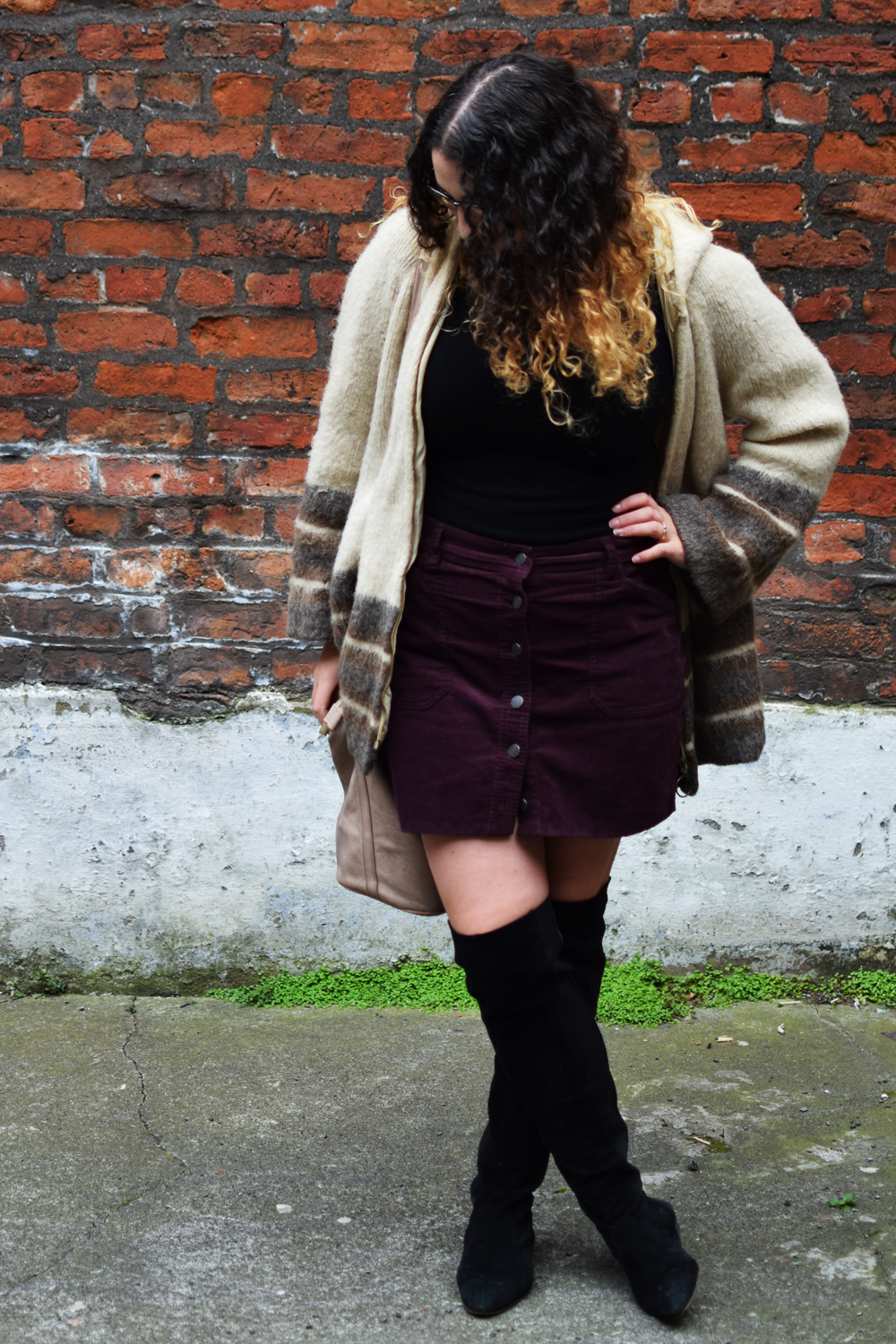 79s style cord skirt
