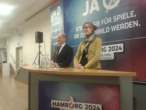 Informationen zur Bewerbung für die Olympischen Spiele mit Olaf Scholz