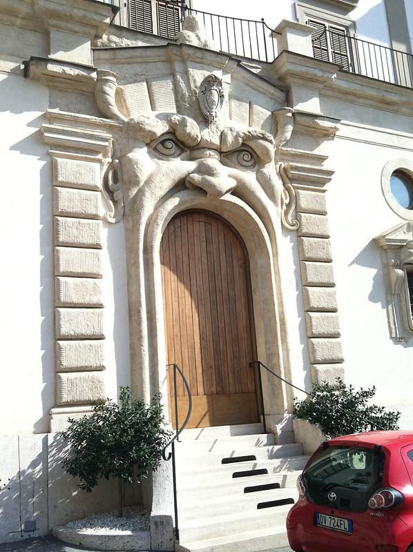 Palazzetto Zuccari monster face door