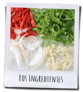 Fijngesneden ingrediënten voor het smakelijke visgerecht Ajoarriero