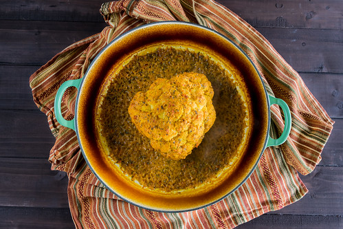fragrant roasted tandoori cauliflower