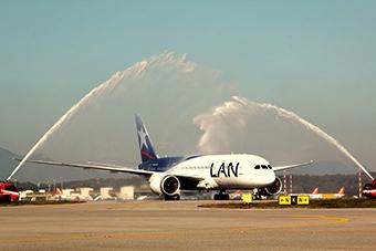 LAN vuelo inaugural a MXP (LATAM)