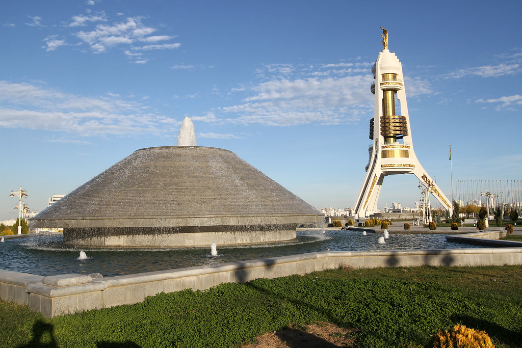 Moved away from the city center. Now located south of the city of Asgabat, Turkmenistan