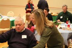 Linda Morse explaining something to Gordon Morse? Photo by George Reiske.