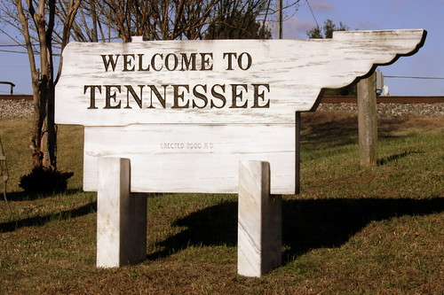 Welcome to Tennessee: Ardmore AL/TN Border