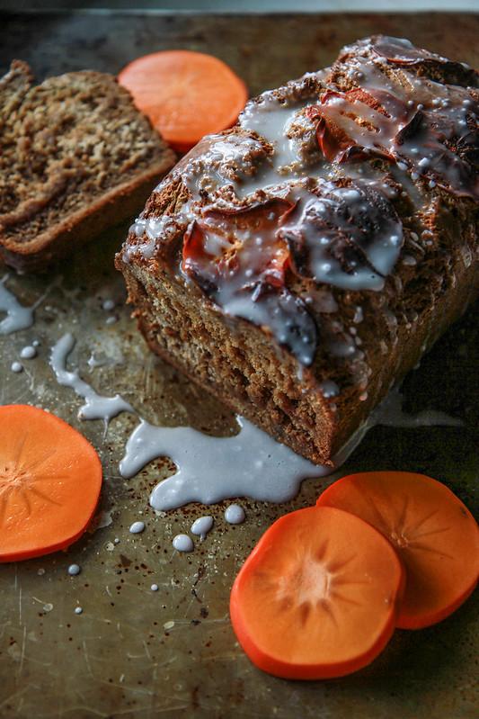 Persimmon Spice Bread- gluten free and vegan