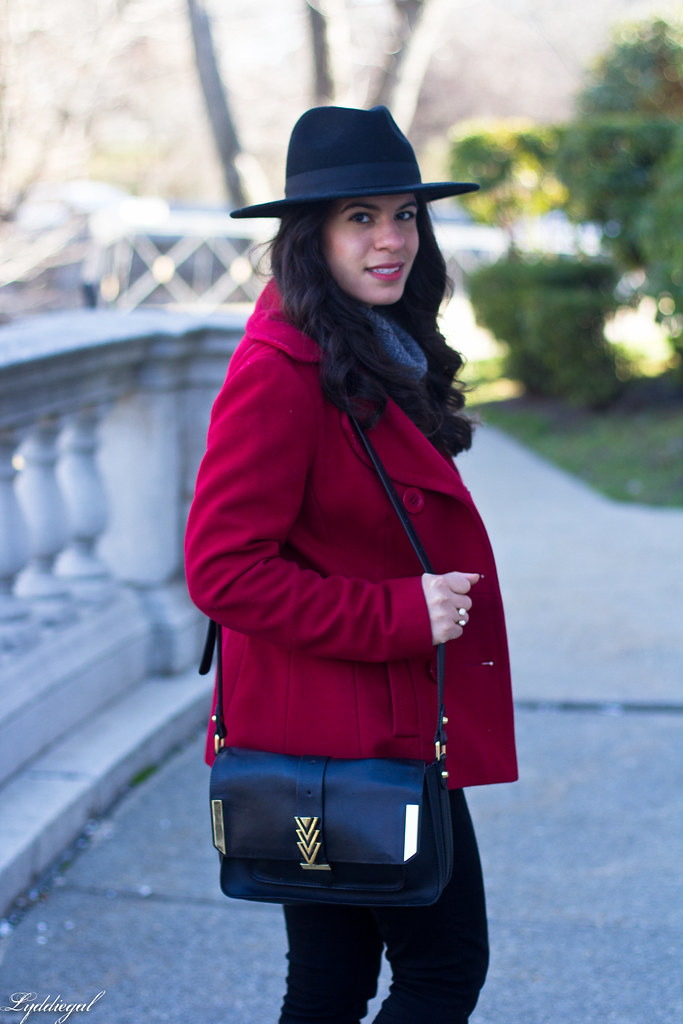 grey sweater, black denim, red peacoat, fedora-6.jpg