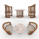 Balinese Inspired Set 3D models