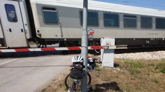 Hot train stop to Vukovar