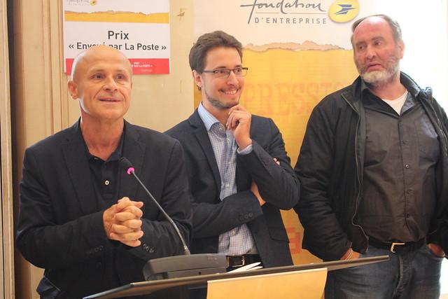 """Olivier Poivre d'Arvor, Alexandre Seurat, Serge Joncour - Prix """"Envoyé par la Poste"""" au Centre National du Livre"""