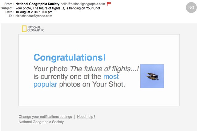 Your photo The future of flights is trending on Your Shot