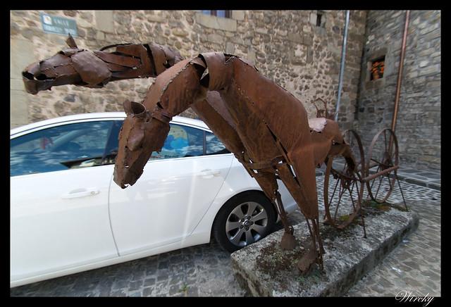 Escultura de caballos