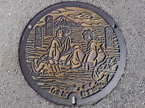 Shimada Shizuoka, manhole cover 2 (静岡県島田市のマンホール2)
