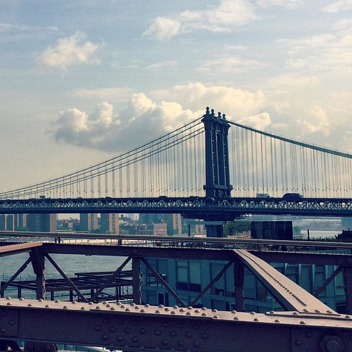 Manhattan Bridge from the Brooklyn Bridge