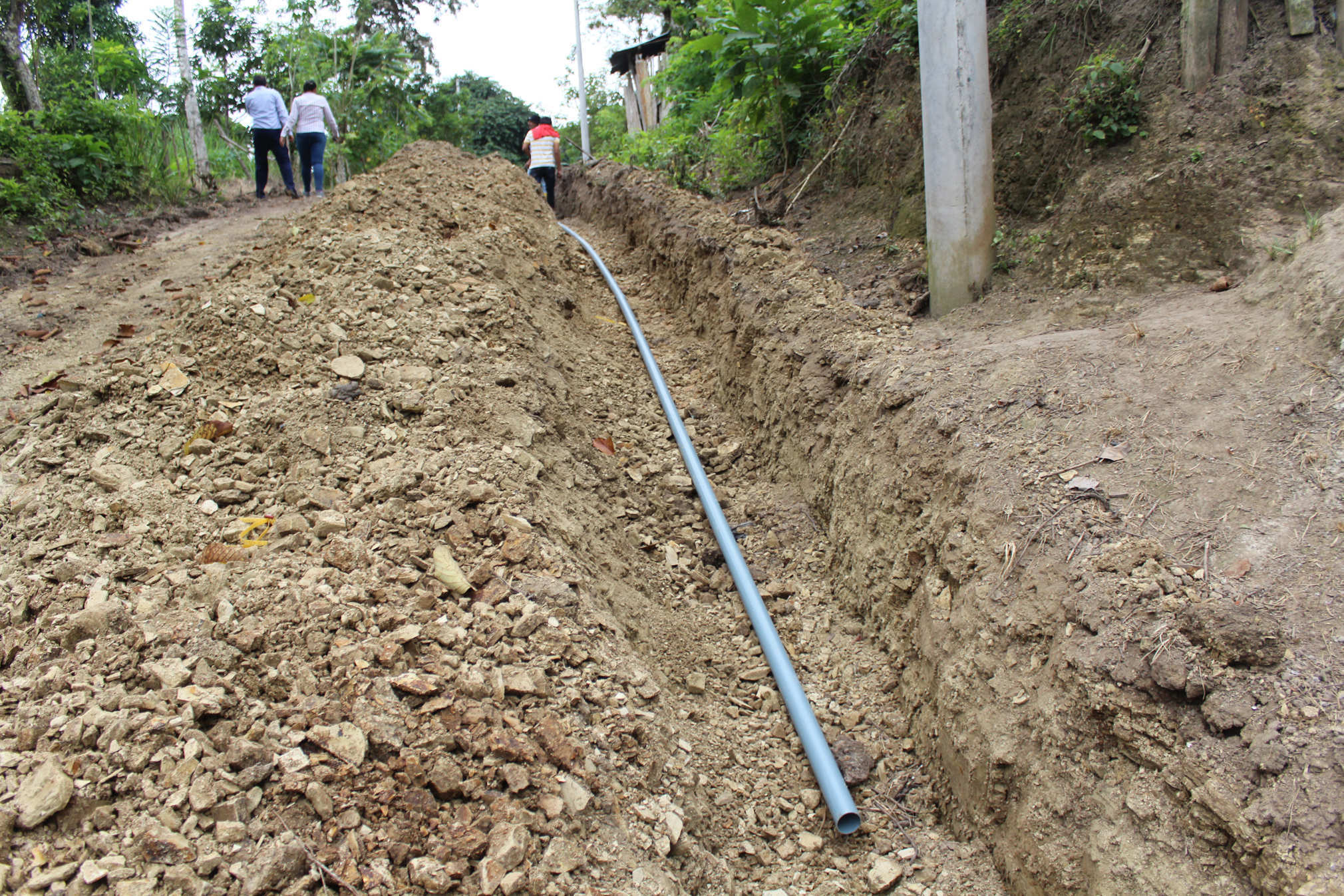 Gadm chone noticias instalaci n de tuber as para agua for Tuberia plastico agua potable