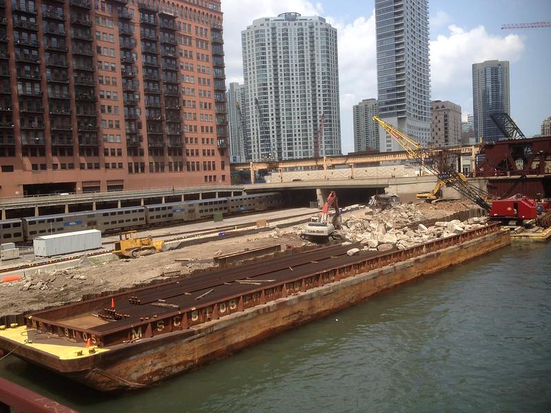20140730 03 Construction Site, Chicago River @ Randolph St.
