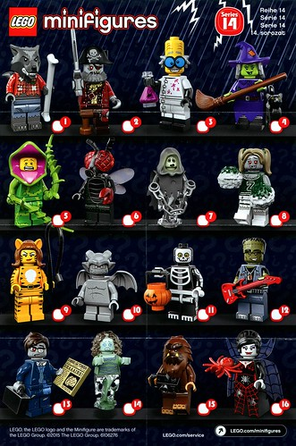 LEGO 71010 Collectible Minifigures Series 14 Monsters ins1