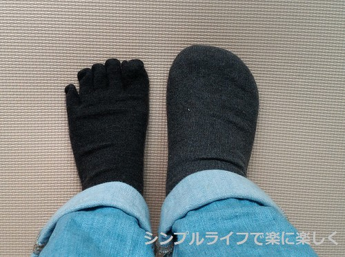 冷えとり靴下1枚と10枚