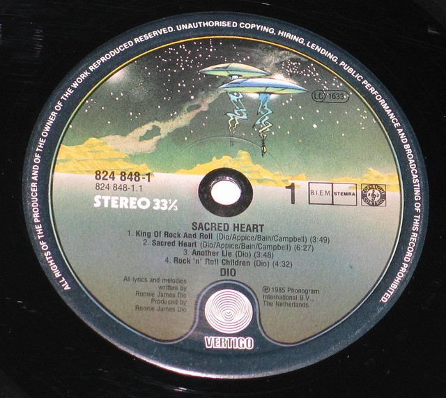 "Dio Sacred Heart 12"" Vinyl LP"