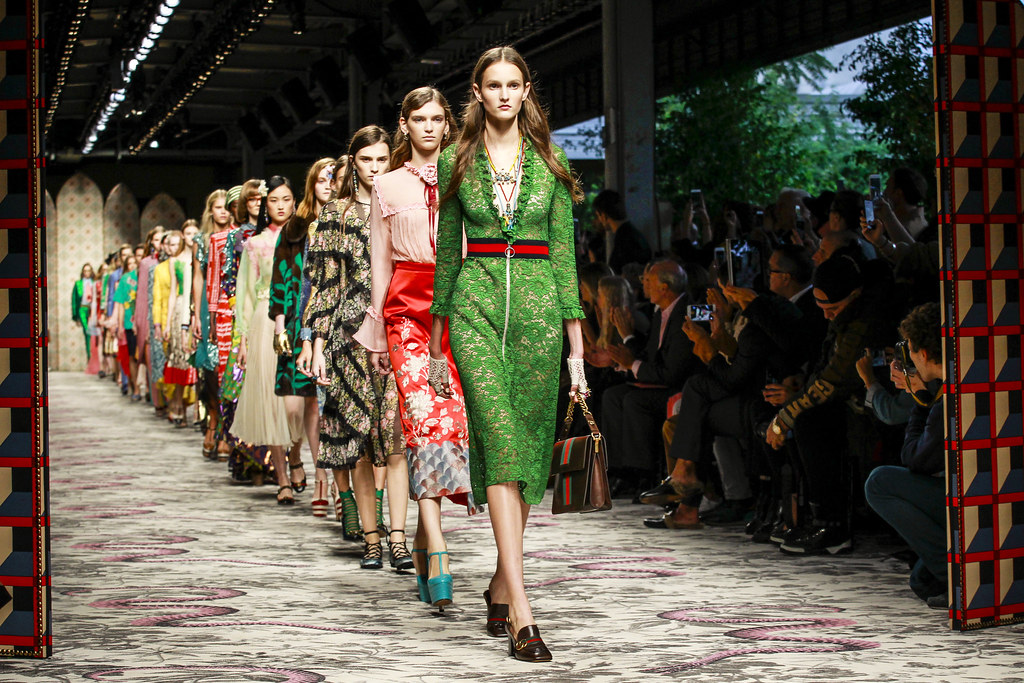 6b192c73008 ... column flounced dresses or climbed and wound round the backs of those  sheer pussy-bow blouses he so managed to put on the map for fall-winter 2015 .