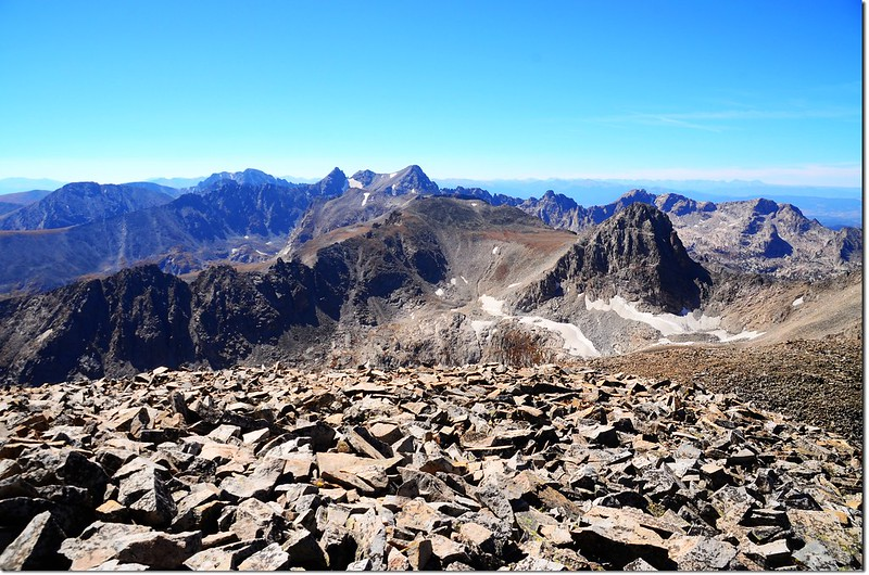 View south into Indian Peaks from the summit of Mount Audubon 3