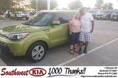 Congratulations Paula on your #Kia #Soul from Zane Beadles at Southwest KIA Rockwall!