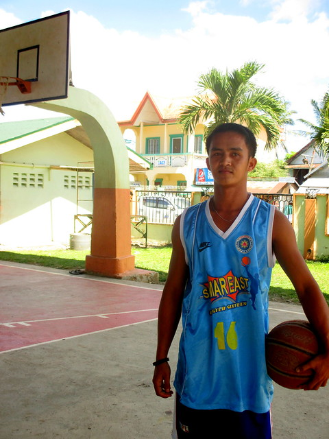 Local General MacArthur resident and basketball player Jaypee Araneta.