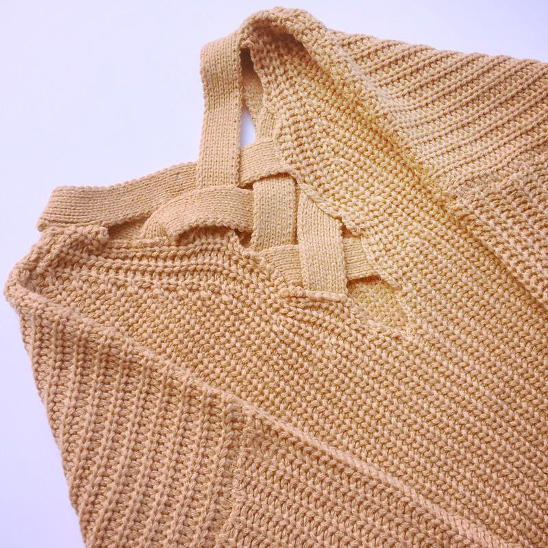 Essential tips: SheIn's Khaki Crisscross Back Sweater
