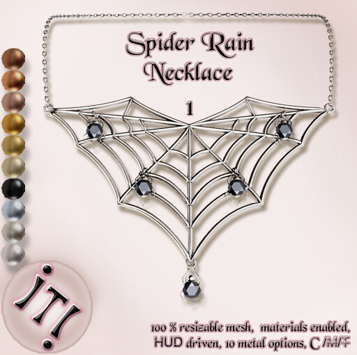 !IT! - Spider Rain Necklace 1 Image