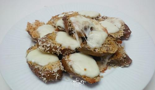 Terung Crunchy Mozarella Recipe siap disantap