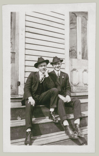 Two Men on the steps