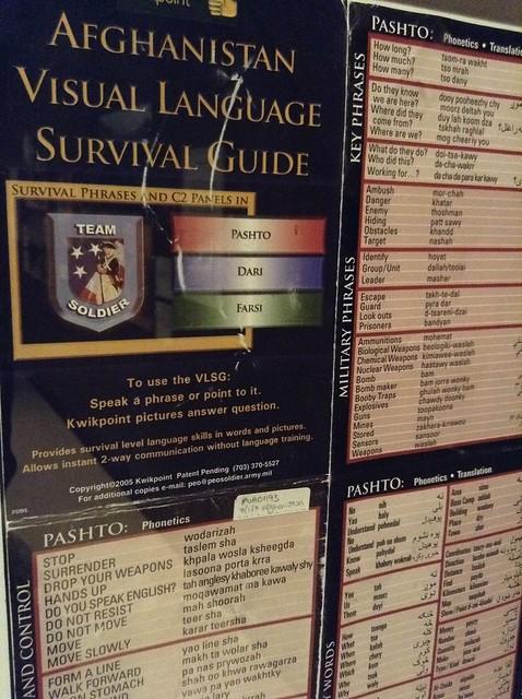 Afghanistan Visual Language Survival Guide