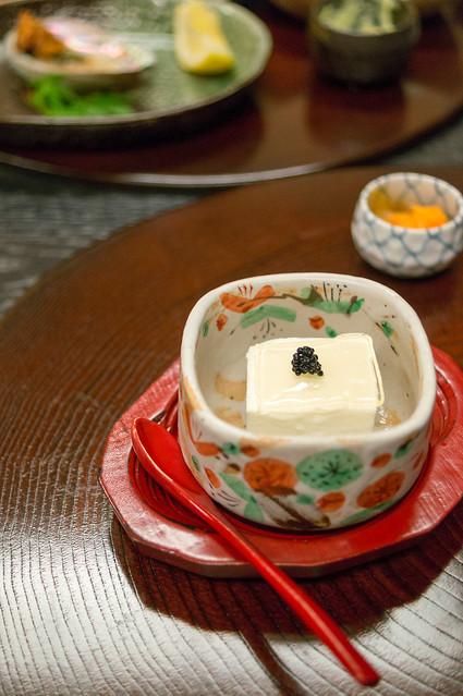 南山荘 紫乃、夕食、ゴルゴンゾーラ豆腐