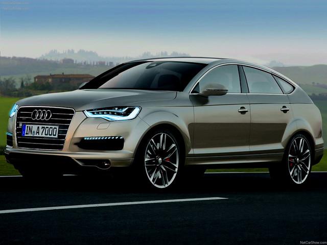 Audi Q6 (неофициальный рендер)